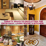 Thrifty Ways to Declutter the Entryway, Living Room, & Kitchen