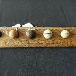 History of golf ball wodden tray five balls