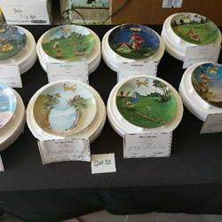 Set of 8 Porcelein collector plates Danbury mint golf series by Gary Patterson in original box