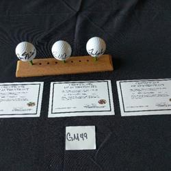 Signed golf balls Couples, Nicklaus, Palmer