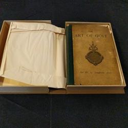 Sir WG Bart Simpson the art of golf 1887 Rare Book in a box