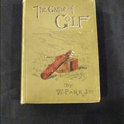 W Park Jr The Game of Golf Rare original 1st book ever written by a golf pro